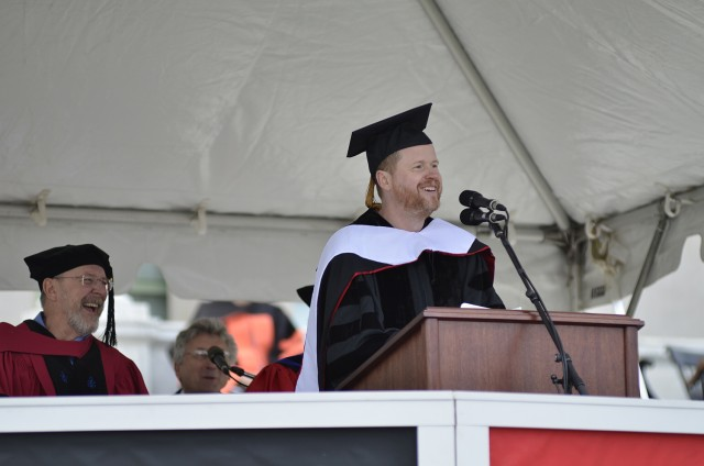 Joss Whedon '87 delivered the Wesleyan Commencement Address on May 26: