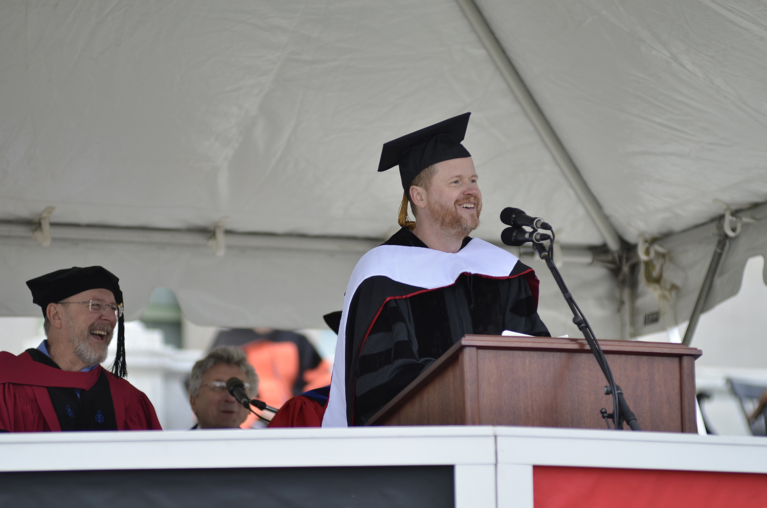 Joss Whedon '87 delivered Wesleyan's Commencement address in 2013.