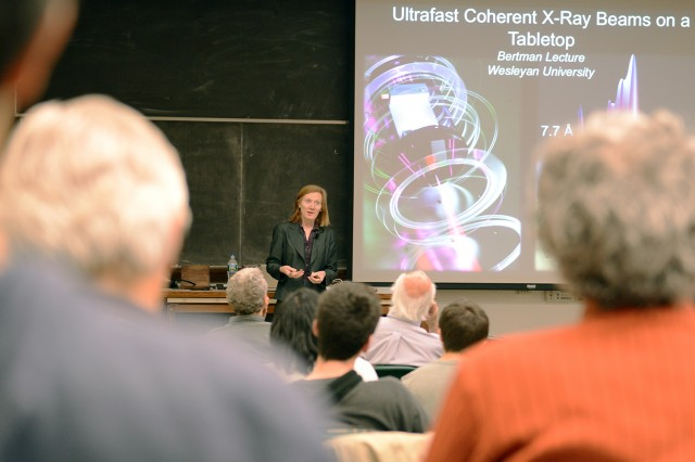 "Murnane spoke on ""Ultrafast Coherent X-Ray Beams on a Tabletop and Applications in Nano and Materials Science."""