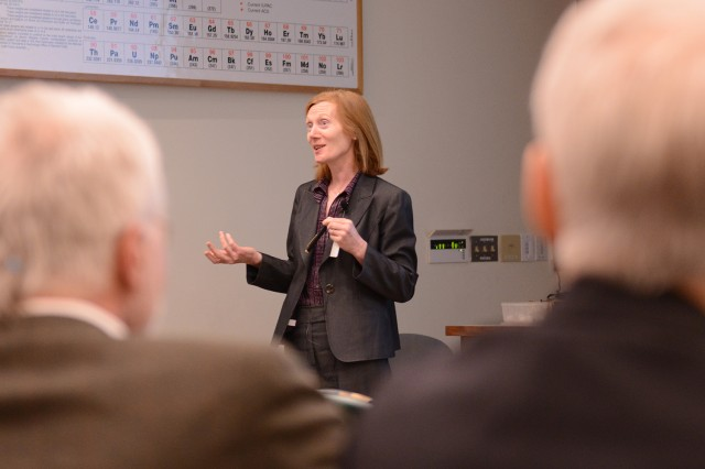 Margaret Murnane delivered the 39th Annual Bertman Lecture for the Department of Physics on May 2. Murnane is a distinguished professor of physics at the University of Colorado Boulder, a member of the National Academies of Science and a fellow of the American Physical Society. She has been awarded numerous prizes for her work in ultrafast science.