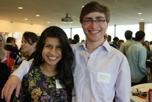 Neha Shafique '15 and Daniel Blinderman '14.