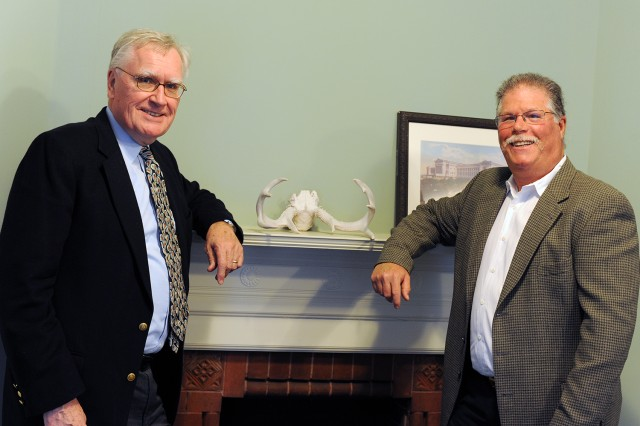 At right, College of the Environment Director Barry Chernoff graciously accepted a $3 million gift from history major Essel Bailey '66, pictured at left. Bailey's gift will ensure a continuing robust visiting scholar program at the COE.