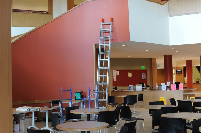 Fresh paint in Usdan University Center Aug. 21.