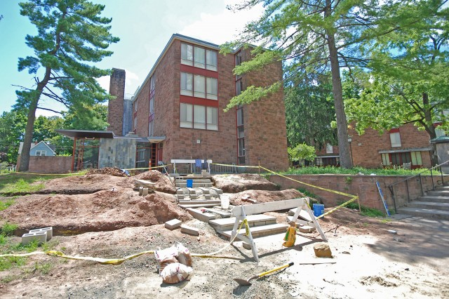 In addition, WILD Wes is overhauling a sloping hill near the Summerfields Dining Hall. The organization, currently led by Tennessee Mowrey '14, Rina Kremer '15, Nathaniel Elmer '14 and Roxanne Capron '14, is working on the project this summer.