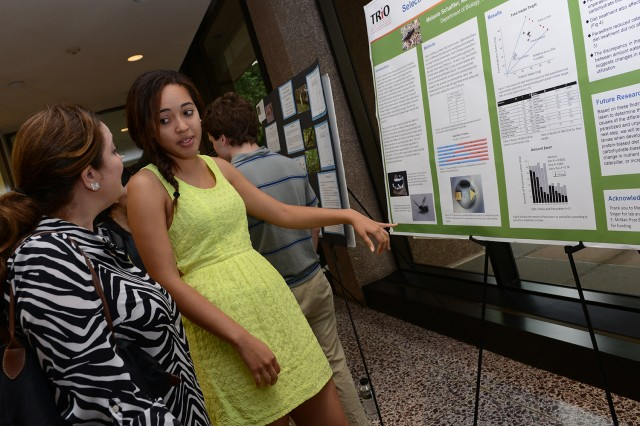"Melanie Schaffler '15 presented her research on the ""Effect of Parasitism on Nutrient Selection in Grammia incorrupta Caterpillars."" Her advisor is Michael Singer, associate professor of biology, associate professor of environmental studies."