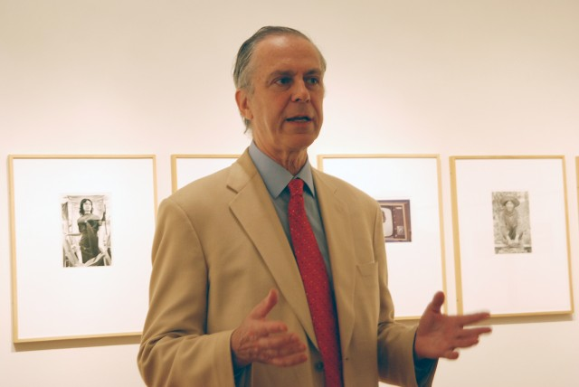 During the show's opening on Sept. 11, Patrick Dowdey, curator of the Freeman Center for East Asian Studies Gallery, introduced the photographer, Tom Zetterstrom.