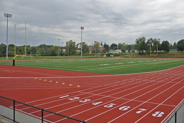 This summer, the 22-year-old Andersen track surface and sub-surface was replaced and built around a new artificial turf field. Named for K. Tucker Andersen '63, the Andersen Track is a 400-meter all-weather track and home for the Wesleyan men's and women's outdoor track and field teams.