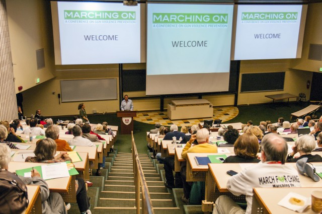 "During a day-long conference Sept. 28 titled, ""Marching On,"" experts from Wesleyan and all over Connecticut spoke on gun violence prevention and ways to promote legislation change."