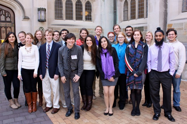 Several students spoke at the KNAC Symposium.