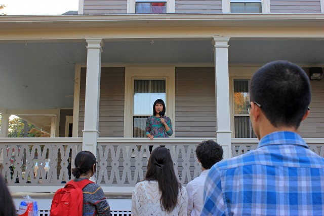 Marguerite Nguyen, assistant professor of English and House Advisor of Asian/Asian-American House, spoke about the Mid-Autumn festival and shared her personal experience celebrating the holiday.