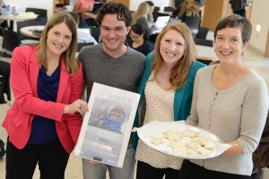 Wesleyan staff and students shared Winter at Wesleyan information at an event in Usdan Oct. 17.