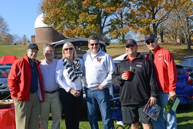 Wesleyan students, parents, alumni and friends gathered for tailgating activities prior to the Homecoming/Family Weekend football game on Nov. 2.
