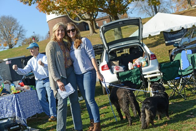Families spent time together during tailgating activities Nov. 2 on Andrus Field.