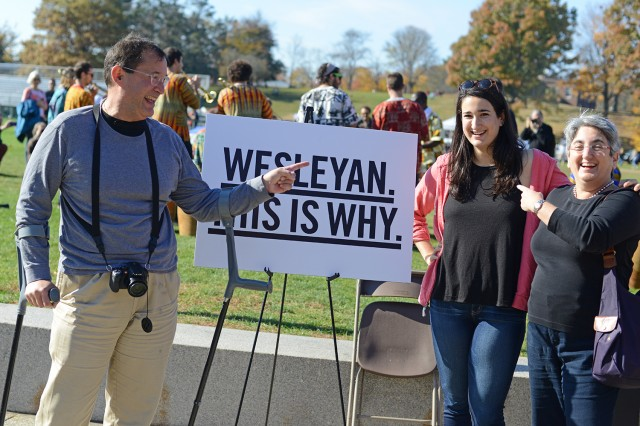 Several Wesleyan students welcomed their families to campus for Homecoming/Family Weekend activities.