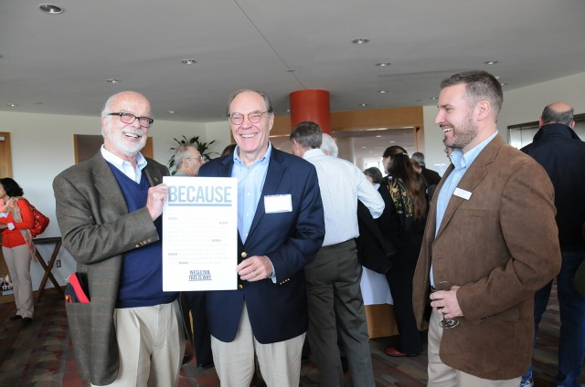 President Roth hosted Wesleyan leadership donors at a pre-game reception in Daniel Family Commons on Nov. 2.