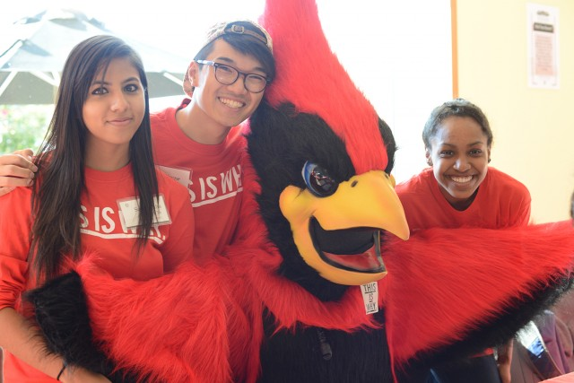 The Wesleyan Cardinal made several appearances during HCFW.