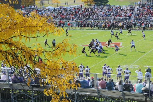 More than 6,000 football fans attended the Homecoming/Family Weekend football game.