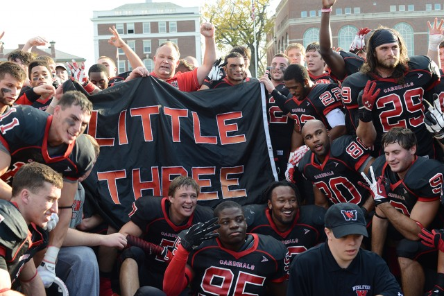Wesleyan won its homecoming game, 16-14 against Williams College on Nov. 2.