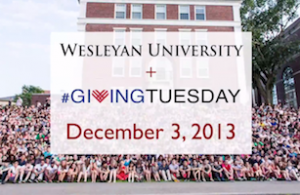 The Wesleyan community contributed more than $54,000 to the Annual Fund on Giving Tuesday, Dec. 3.
