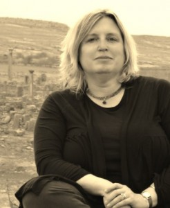 Kate Cooper '82 in Timgad, Algeria