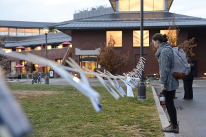 Soro worked with the Wes, Divest! campaign and helped create a recent exhibit behind College Row.
