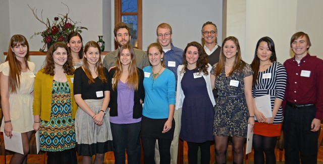 Twelve students, accompanied with Wesleyan President Michael Roth, attended the Phi Beta Kappa initiation ceremony Dec. 4.