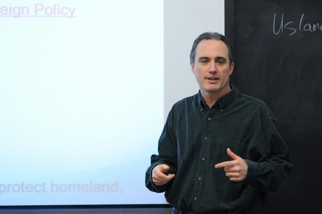 "Doug Foyle, associate professor of government, taught ""U.S. Foreign Policy"" during the Winter Session."