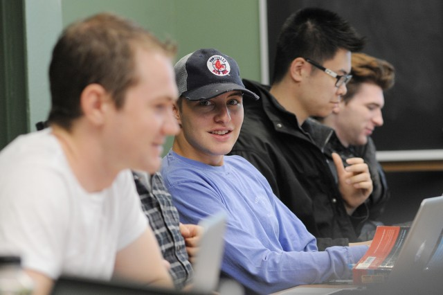 Students enjoy Foyle's Winter Session course on Jan. 16.