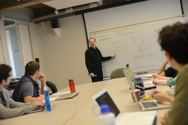 "Associate Professor of Computer Science James Lipton taught ""Introduction to Computer Programming."" He also teaches the class during Wesleyan's Summer Session."