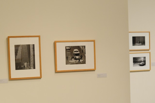 "Max Yavno (American, 1911-1985) photographed ""Cable Car, 1947."" The gelatin silver print, seen here, second from the left, is part of the Davison Art Center exhibit."