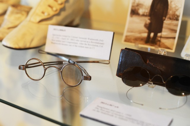 These spectacles were owned by Colonel Jeremiah Wadsworth (July 12, 1743—April 30, 1802) who served as a Revolutionary War soldier and Congressman. After the Revolution, Col. Wadsworth became one of the richest men in Connecticut.
