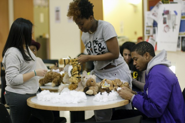 The Usdan Center Activities Board (UCAB) hosted a animal building workshop Feb. 20 in Usdan University Center. Students created their own stuffable, huggable and lovable furry friends and mythical creatures.