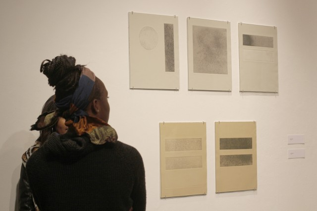 The student-curated art exhibit, which runs through March 2, celebrates and raises awareness of underrepresented artists of color at Wesleyan.