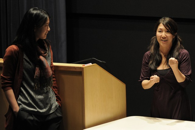 "Stéphanie Ponsavady and Miri Nakamura discuss ""An Unbounded Romance."" Most films are followed by a Q&A session with Wesleyan faculty or film directors."