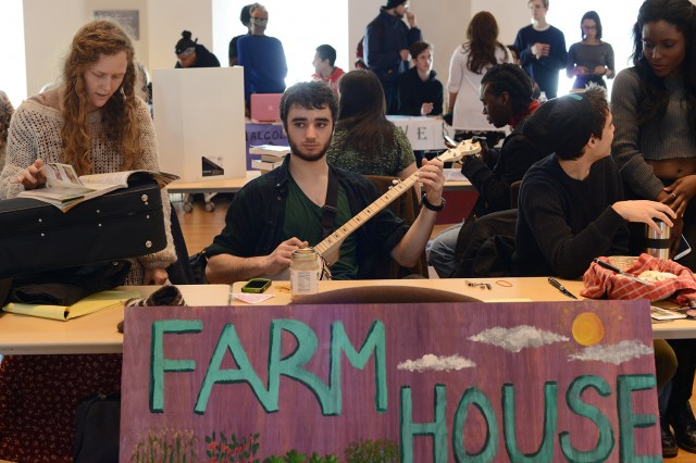 Farm House provides students interested in the politics and culture of food production and sustainability a place to cultivate a mutualistic relationship with the earth that provides them with their lunch everyday. The house seeks to bring together people who care about where their food comes from and how it got to their plates, in a space where they can discuss ways to help Wesleyan strive for responsible food attainment and distribution practices,