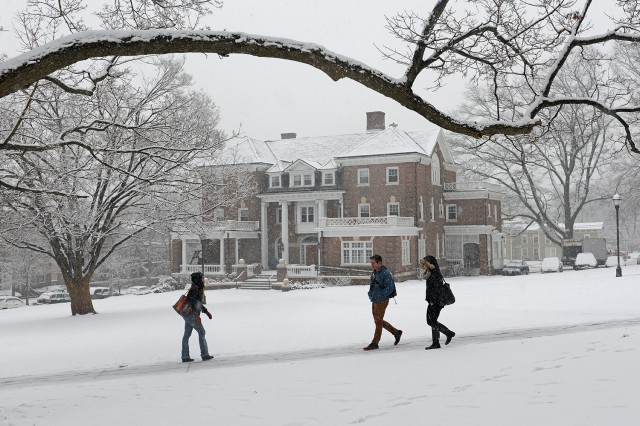 Snowy campus, Feb. 3, 2014.