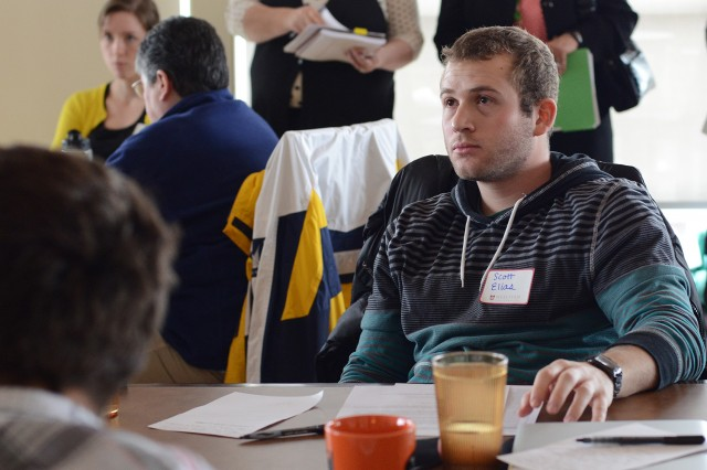 """Scott Elias '14 participated in the energy workgroup. """"I attended the conference in large part because I think that if Wesleyan is to really meet its climate neutrality goals by 2050 and do its part in the fight to avert dangerous climate change we need to expand Wesleyan's clean, low-carbon energy capacity. In particular, I think that means expanding our solar capacity,"""" he said. Elias also is co-organizing a Climate Conference on April 12."""