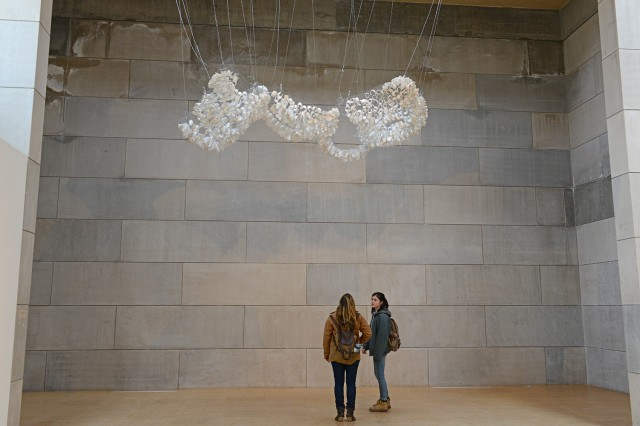 """Claire Can Zhou's senior art thesis is titled """"Clouds."""""""