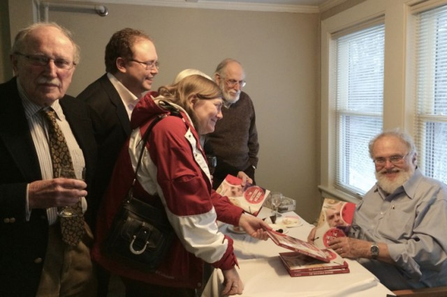 On March 5, the Wasch Center hosted a book-signing party for Firshein, pictured at right.