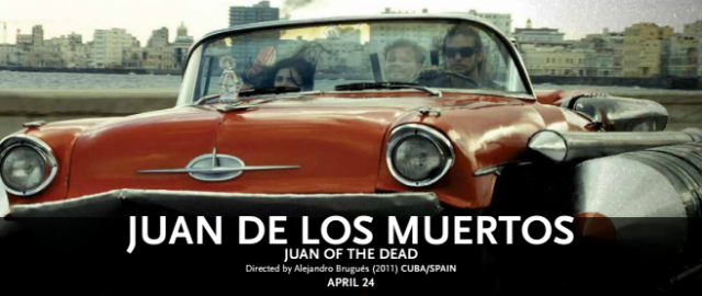 In Cuba's first zombie movie, residents of Havana scream in panic as flesh eating zombies swarm streets and buildings. Watch Juan de los Muertos (Juan of the Dead) on April 24 as part of the Hispanic Film Series.