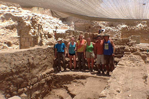 Pictured are Wesleyan participants of the 2013 Ashkelon Archaeological dig.