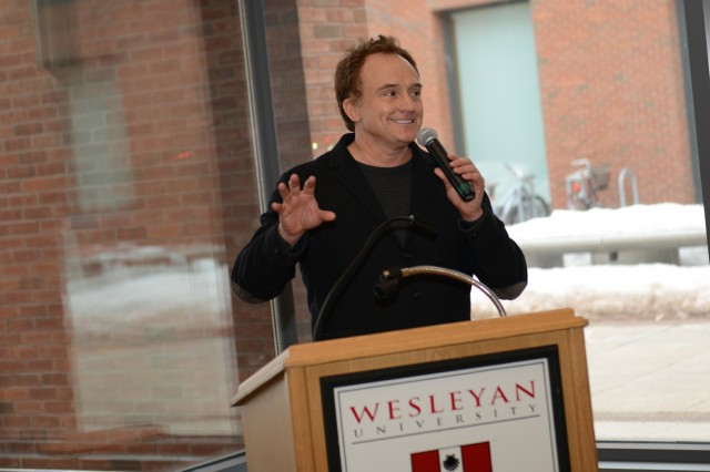 Bradley Whitford '81, Emmy award-winning actor, delivered the closing remarks during Connect@Wes March 1 in the Wesleyan Career Center. Connect@Wes was a two-day networking and relationship building opportunity offered to Wesleyan students, alumni and parents.