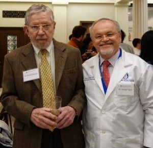 Dr. N. Thorne Griscom '52 (left) with Dr. George Taylor.