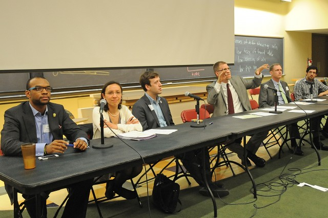 "Wesleyan hosted the ""Climate Justice Conference of Solutions"" on April 12. Speakers lectured on the organizing, technological and policy solutions to the climate crisis and explored how taking action on climate can improve social justice, create jobs, grow business and enhance national security."