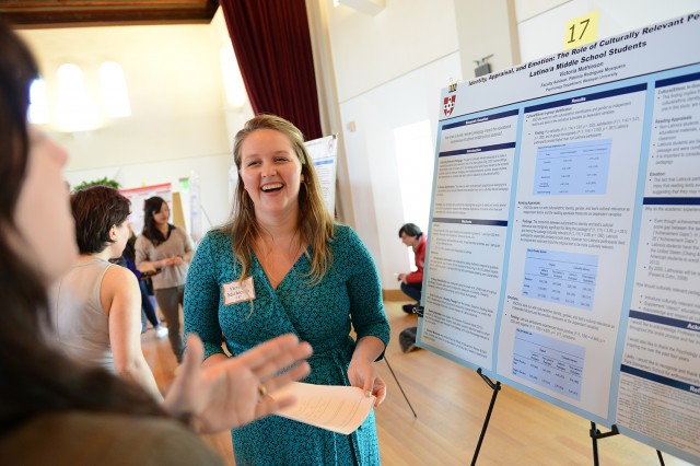 "Victoria Mathieson '14 presented her research on ""Identity, Appraisal, and Emotion: The Role of Culturally Relevant Pedagogy among Latino/a Middle School Students."" Her advisor was Patricia Rodriguez Mosquera, associate professor of psychology."