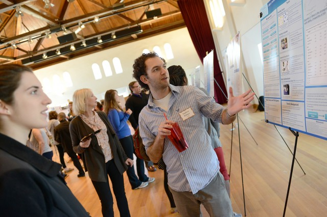 "Andrew Ribner '14 presented a poster on ""What Matters Most? Examining Socioeconomic Disparities and Predictors of Early Math Ability."" His advisor was Anna Shusterman, assistant professor of psychology."