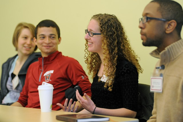 Student-to-student panel on April 16.