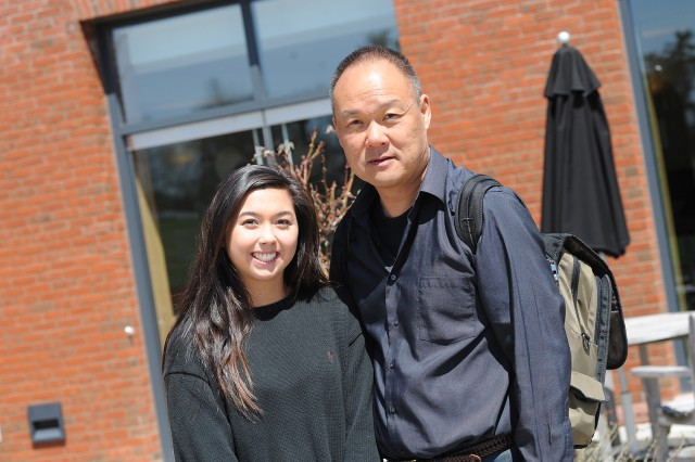 Jennifer Swindlehurst Chan attended WesFest with her father Kyle Chan.