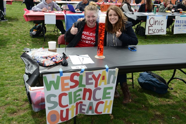Student Activities Fair at WesFest.