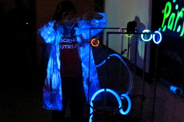 Students learned how to make objects glow in the dark.